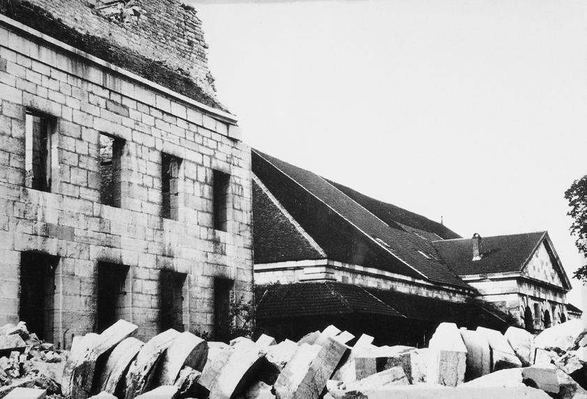 Maison du directeur après explosion