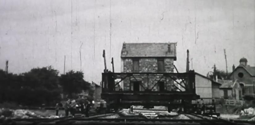 Maison sur rails à Châtillon-sous-Bagneux, 1953